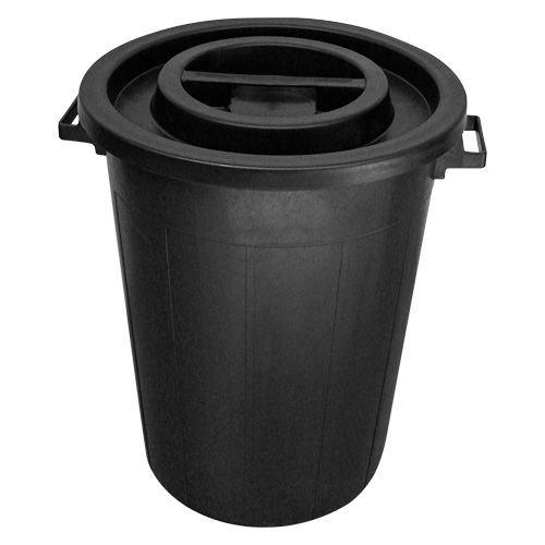 Garland Ronde ton 100 ltr met deksel zwart