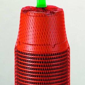 Romberg Plastic Potjes 9cm rond terracotta 18 st (18) 73189K