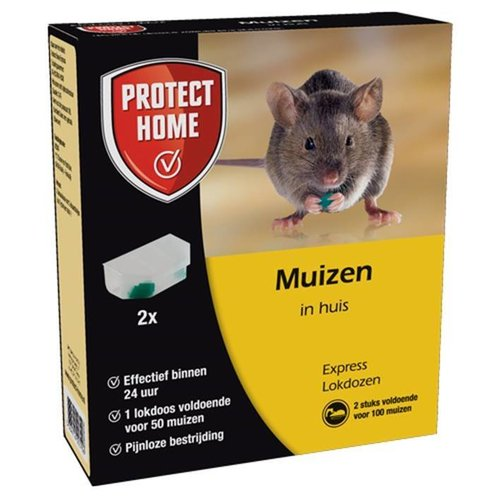 PROTECT HOME PROTECT HOME EXPRESS MUIZEN IN HUIS LOKDOZEN 2 STUKS