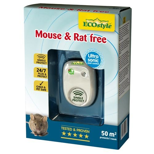 ECOSTYLE ECOSTYLE MOUSE & RAT FREE 50M² SINGLE PROTECT - 1 KAMER
