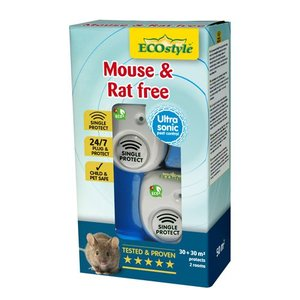 ECOSTYLE MOUSE & RAT FREE 30 + 30M² SINGLE PROTECT - 2 KAMERS