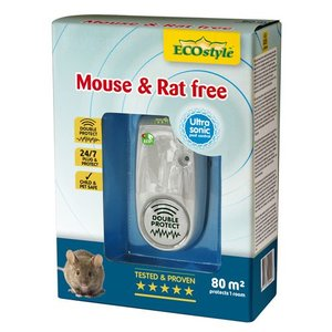 ECOSTYLE MOUSE & RAT FREE 80M² DOUBLE PROTECT - 1 KAMER