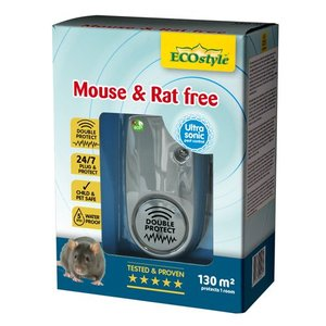 ECOSTYLE MOUSE & RAT FREE 130M² DOUBLE PROTECT IP55 - 1 KAMER