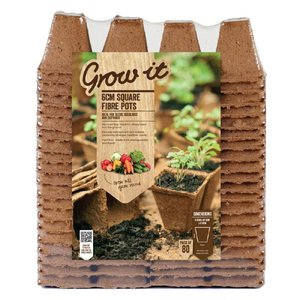 Grow-it Vierkante Vezel Pot 6cm 80st (10) 083.11