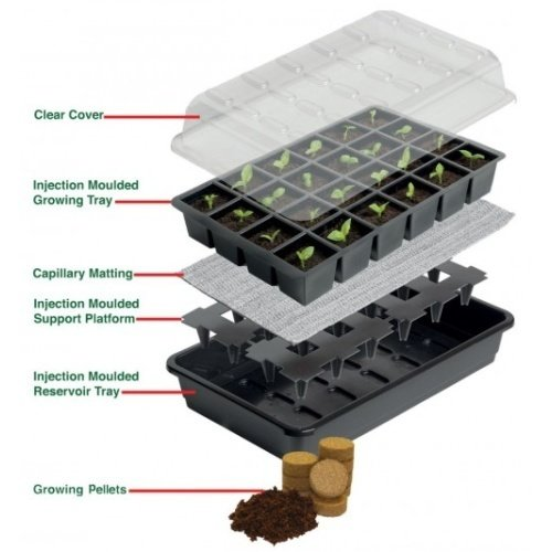 Garland GARLAND ULTIMATE 12 CELL SELF WATERING SEED SUCCESS KIT