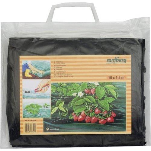 Romberg Mulch-Folie 10x1.5mtr geperforeerd zwart (20) 78320K