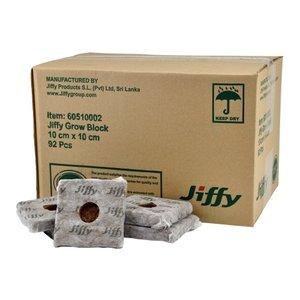 Jiffy GROW BLOCK 10 X 10 X 6.5 CM PER DOOS 92 STUKS