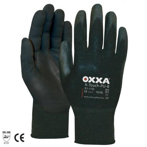 OXXA SAFETY X-TOUCH PU-B HANDSCHOENEN M (8) ZWART 3-PACK