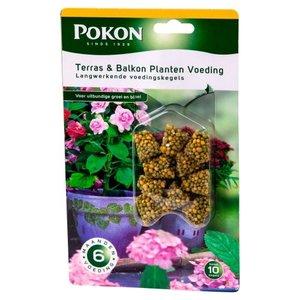 POKON  TERRAS & BALKON PLANTEN VOEDINGSKEGELS 10 STUKS