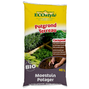 ECOSTYLE Potgrond Moestuin - Cocopeat - 40 liter