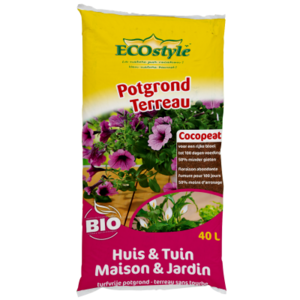 ECOSTYLE Potgrond (Cocopeat) Huis & Tuin 40 LITER