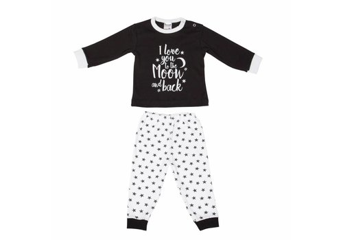 Beeren Beeren Baby Pyjama To The Moon Zwart