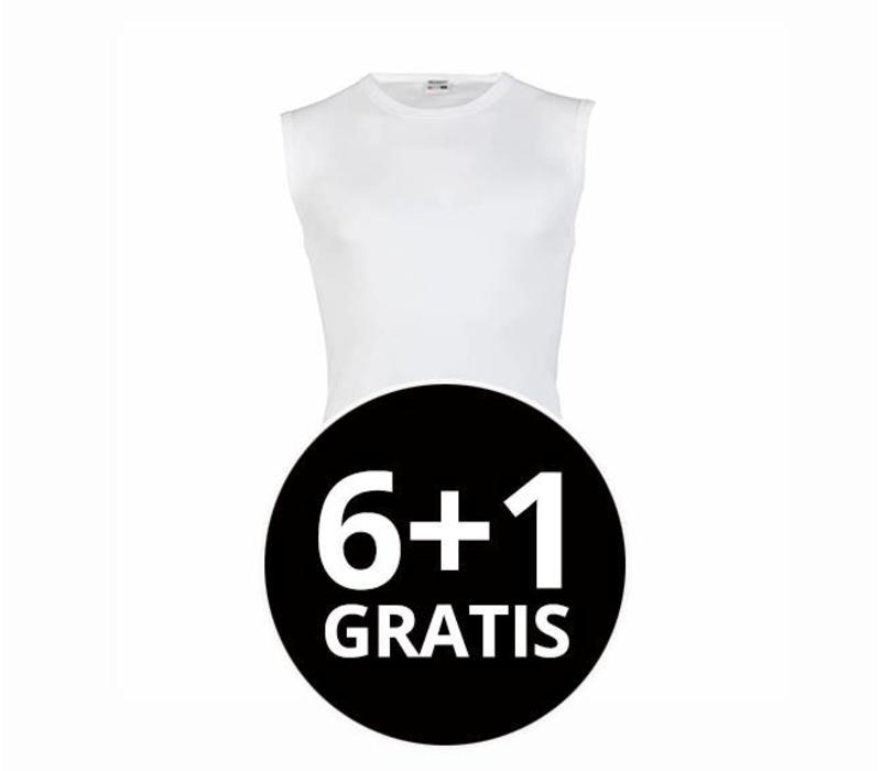 Beeren Heren Mouwloos Shirt M3000 Wit voordeelpack