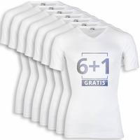 Beeren Heren T-Shirt V-Hals M3000 Wit voordeelpack