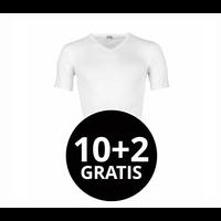 Beeren Heren T-Shirt V-Hals M3000 Wit Mega voordeelpack