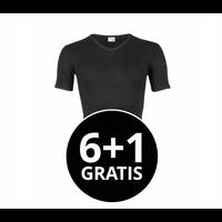 Beeren Heren T-Shirt V-Hals M3000 Zwart voordeelpack