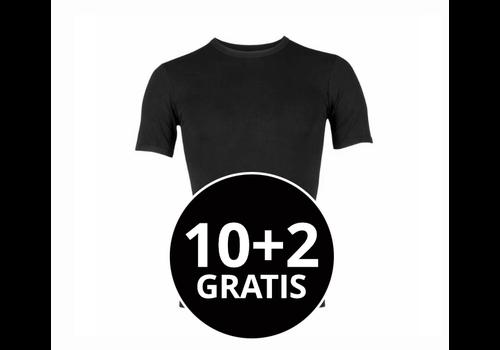 Beeren Heren Young T-Shirt Zwart mega voordeelpack