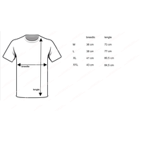 heren T-shirt extra lang M3000 wit