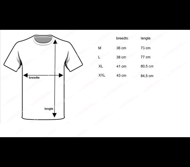 heren diepe V-hals T-shirt extra lang M3000 wit