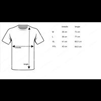 heren diepe V-hals T-shirt extra lang M3000 zwart