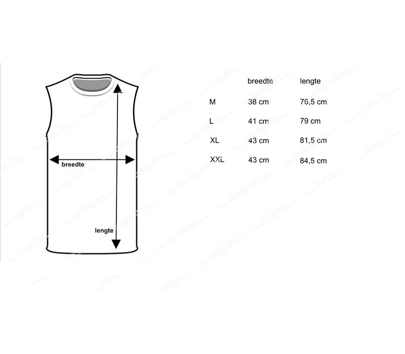 Beeren Heren Extra Lang Mouwloos Shirt Zwart Mega voordeelpack