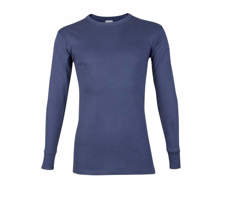 heren T-shirt lange mouw M3000 donkerblauw voordeelpack