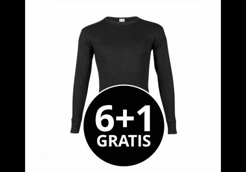 Beeren Heren T-Shirt Lange Mouw M3000 Zwart voordeelpack