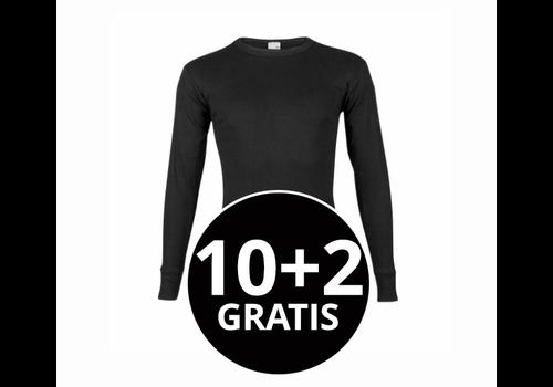 Beeren Heren T-Shirt Lange Mouw M3000 Zwart Mega voordeelpack