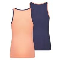 Meisjes Hemd 2-Pack zalm/donkerbauw