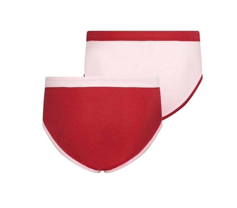 Meisjes slips 2-Pack Roze/Rood