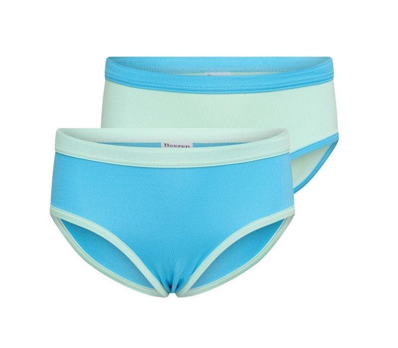 Meisjes slips 2-Pack mint/turquoise
