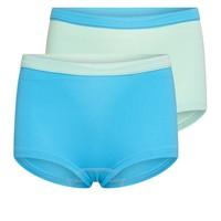 Meisjes boxer 2-pack mint/turquoise