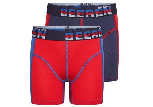 Beeren Mix & Match Jongens Boxer Blauw/ Rood 2-Pack
