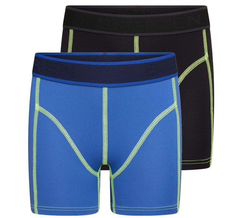 Beeren Mix & Match Jongens Boxer Blauw/Zwart 2-Pack