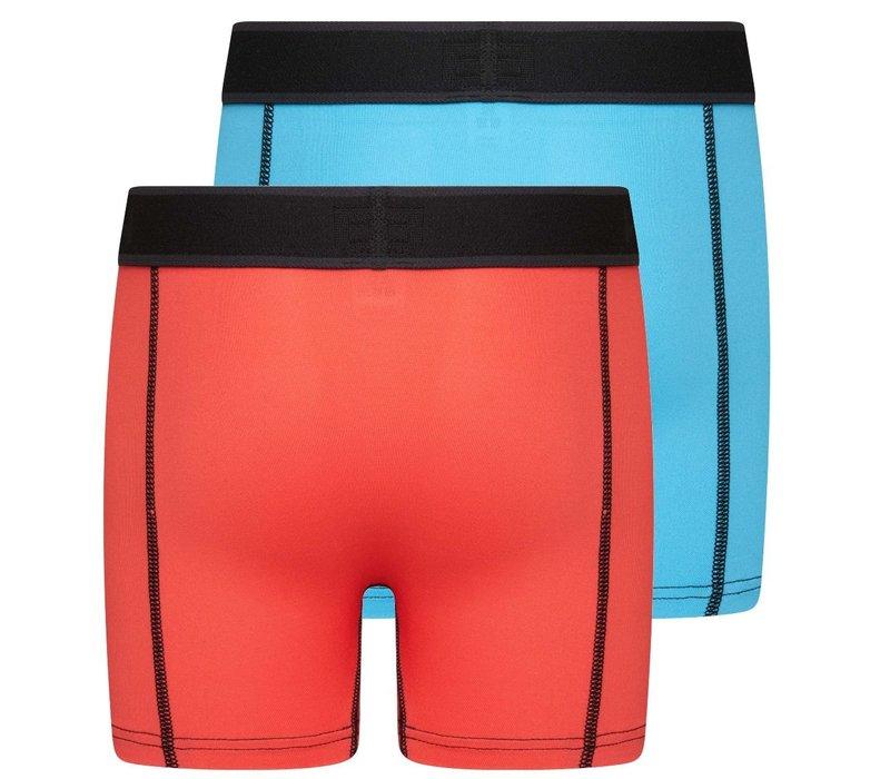 Beeren Mix & Match Jongens Boxer Oranje/Blauw 2-Pack