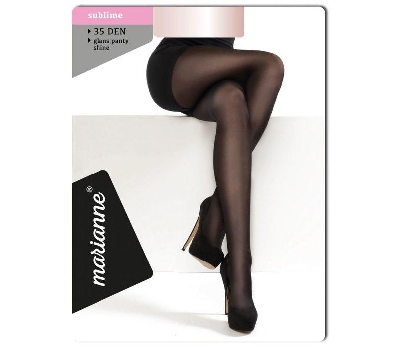 35 denier panty met glans, kleur zwart