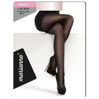 35 denier panty met glans, kleur almost black