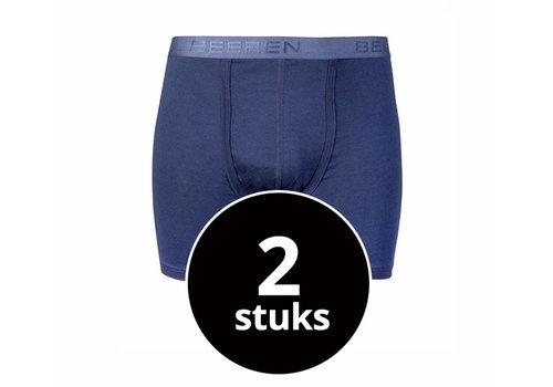 Beeren Heren Boxershort Met Gulp Blauw 2-Pack
