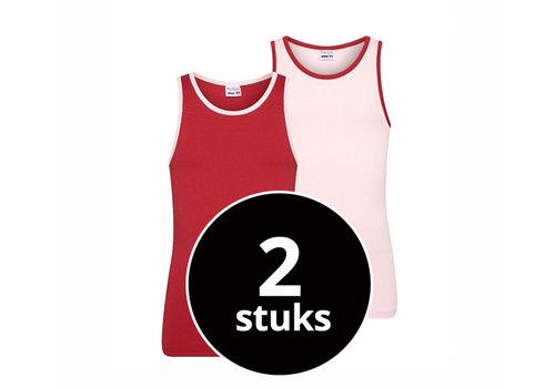 Beeren Meisjes Hemd 2-Pack Roze/Rood