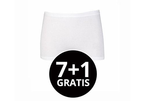 Beeren Dames Boxer Comfort Feeling Wit voordeelpack