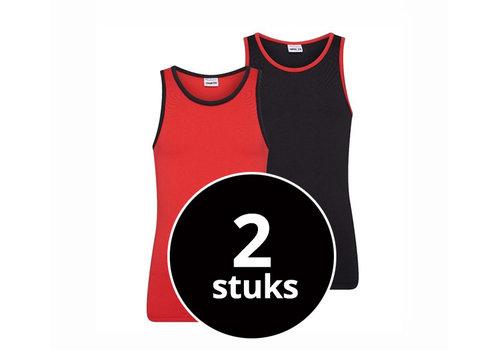 Beeren Meisjes Hemd 2-Pack Rood/Zwart