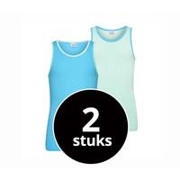 Meisjes Hemd 2-Pack mint/turquoise