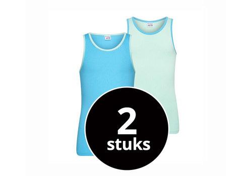 Beeren Meisjes Hemd 2-Pack Mint/Turquoise
