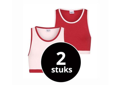 Beeren Meisjes Hesje 2-Pack Roze/Rood
