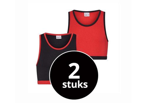 Beeren Meisjes Hesje 2-Pack Rood/Zwart