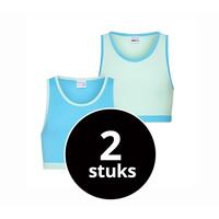 Meisjes hesje 2-Pack mint/turquoise