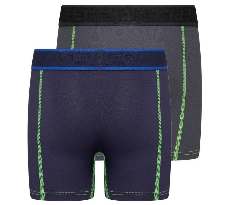 Beeren Mix & Match Jongens Boxer Blauw/Grijs 2-Pack