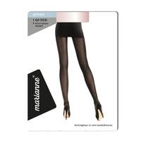 60 denier panty  opaque mat, kleur almost black