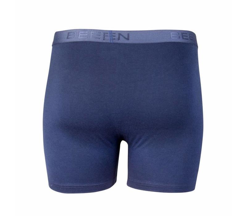 heren boxershort met gulp blauw 2-Pack