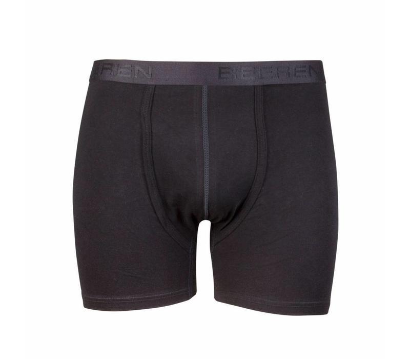 heren boxershort met gulp zwart 2-Pack